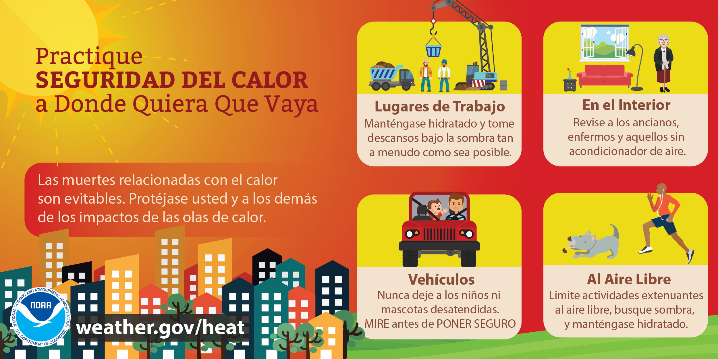 practique seguridad del calor