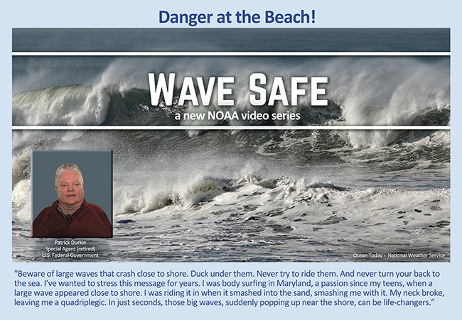 Wave Safe: A new NOAA Video series, see link below, image of violent waves