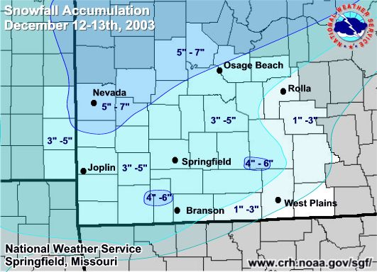 Snowfall Accumulations Map