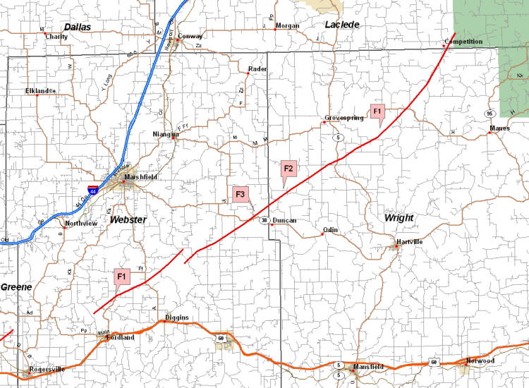 tornado track map