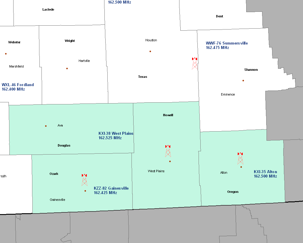 NWR West Plains Coverage Map