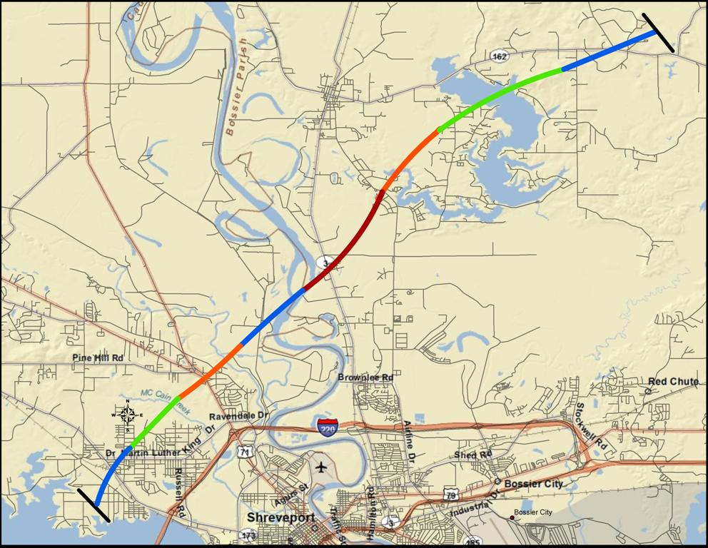 Track of the Benton tornado