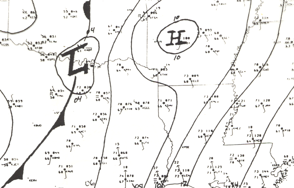 Surface Analysis at 8am on April 3, 1999