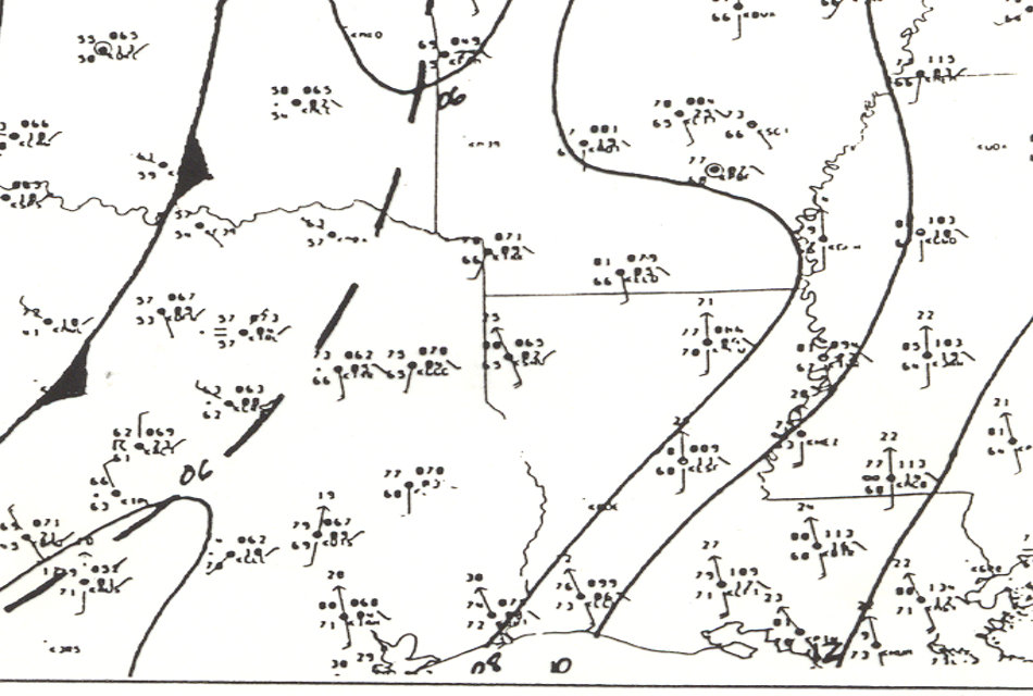 Surface Analysis at 12pm on April 3, 1999
