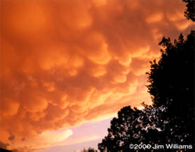 Mammatus clouds from Storm 6