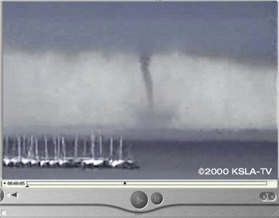 Waterspout over Cross Lake