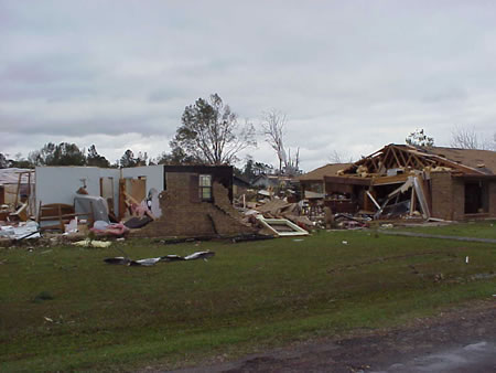 House destroyed in Olla, LA