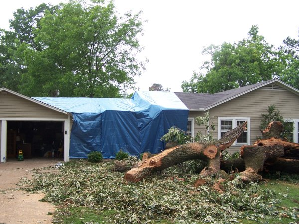 Damage to a home in Winnsboro