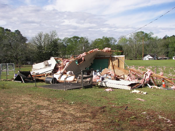 Damage near Jonesboro-Hodge High School