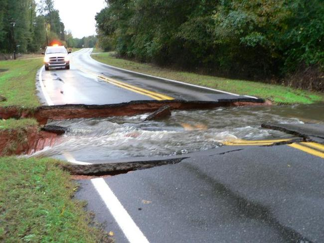Highway 157 washed out south of Haughton, LA
