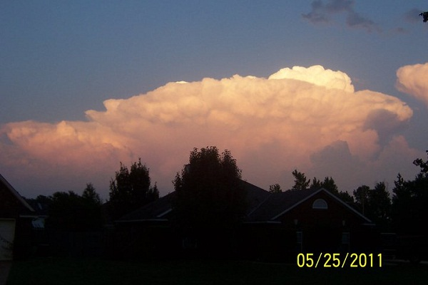 One of the supercells as seen from Shreveport