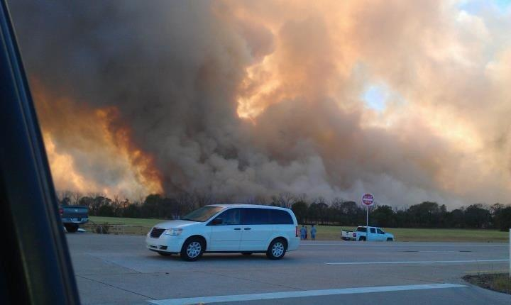 Bear Creek Fire in Cass County, TX