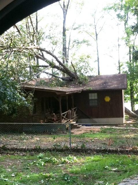 house split in half june 12 2012 severe thunderstorms