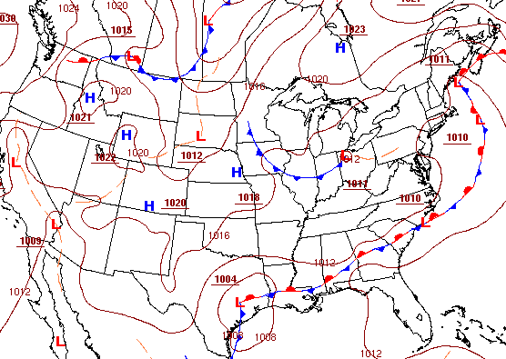 Surface map at 1am CDT on September 30, 2012