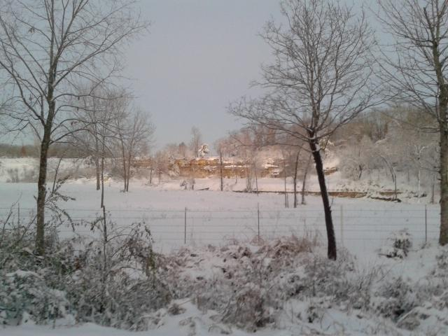 6 inches of snowfall in Idabel, OK
