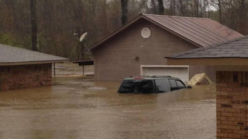 Flooding in Bossier Parish.