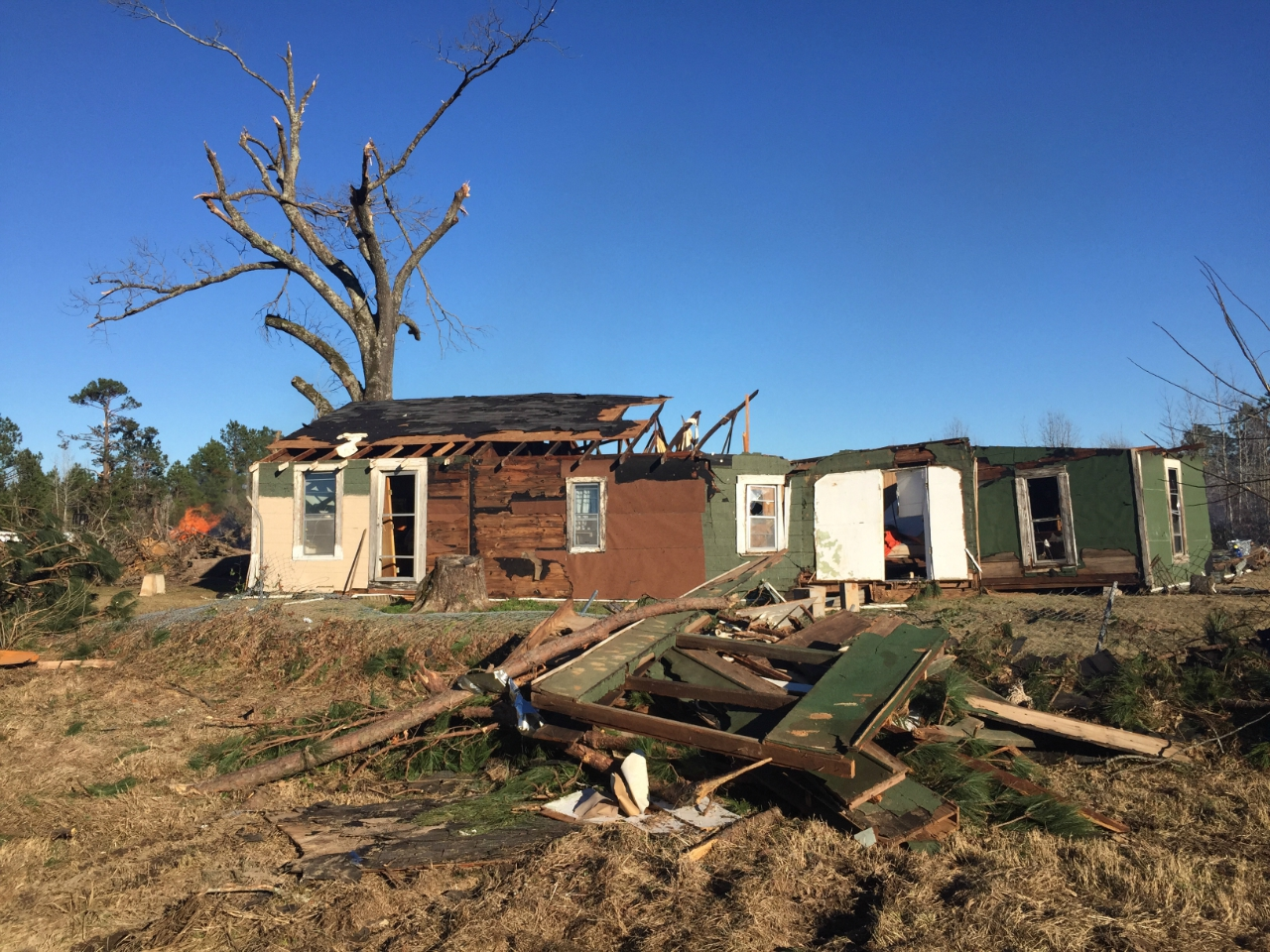 EF2 damage to a home northeast of Smithland, TX