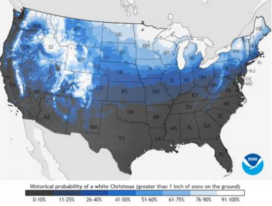 white christmas climatology for west central texas