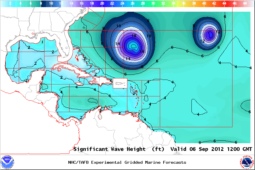 Marine Weather Map.Marine Conditions For Puerto Rico And U S Virgin Islands