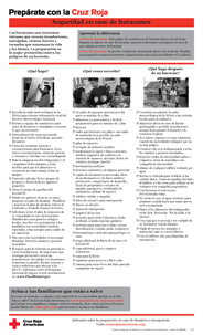 Red Cross Hurricane Safety Checklist - Spanish