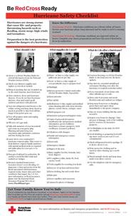 Red Cross Hurricane Safety Checklist - English