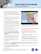 NHC Storm Surge Tips Brochure