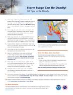 NHC Storm Surge Tips Brochure