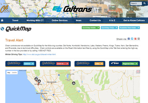 Caltrans Traffic Map