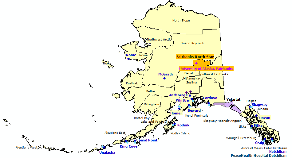 Alaska StormReady and TsunamiReady Communities. Click for state map and list
