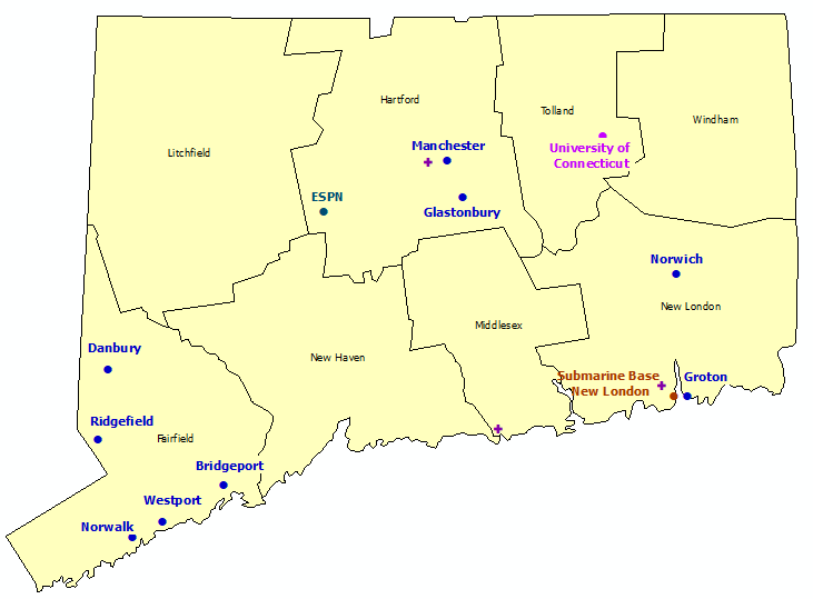 Connecticut StormReady Communities. Click for state map and list