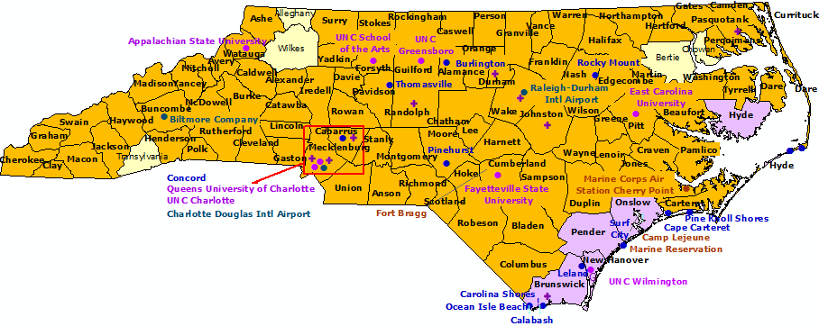 North Carolina StormReady Communities. Click for state map and list
