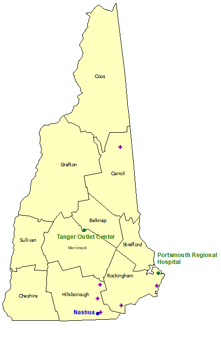 New Hampshire StormReady Communities. Click for state map and list