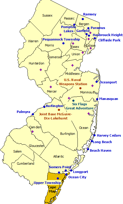 New Jersey StormReady Communities. Click for state map and list