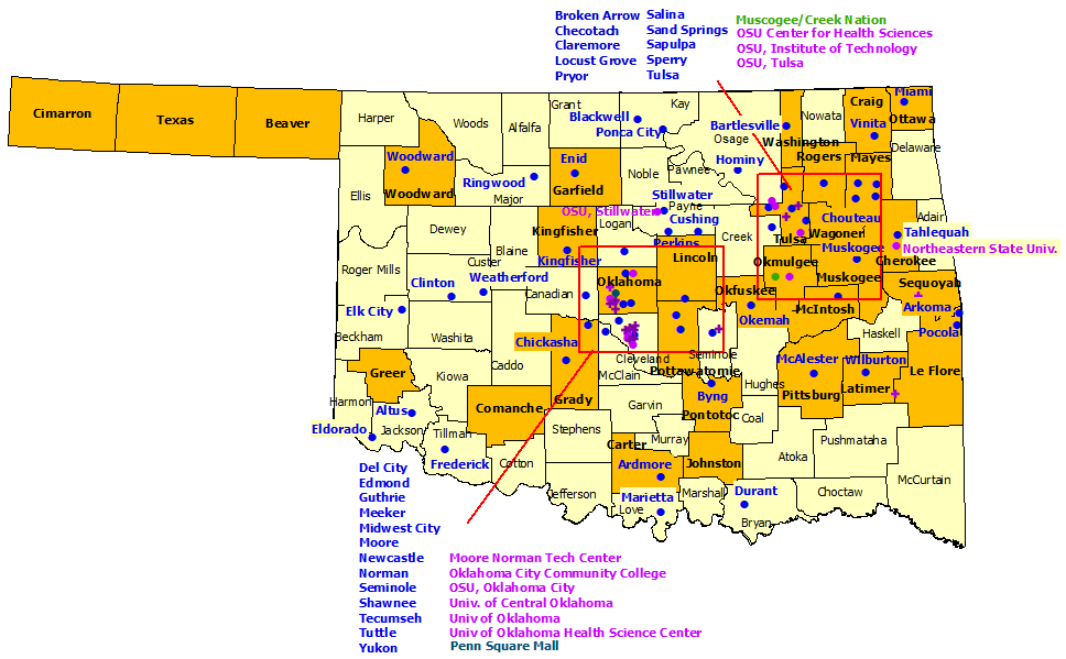 Oklahoma StormReady Communities. Click for state map and list