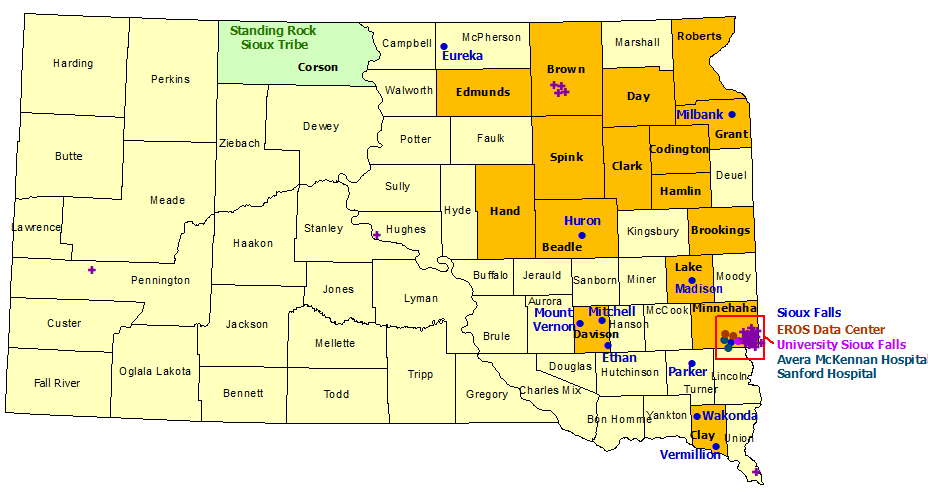 South Dakota StormReady Communities. Click for state map and list