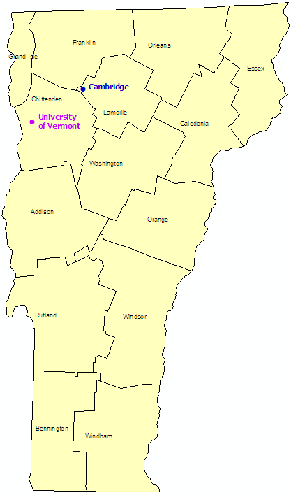 Vermont StormReady Communities. Click for state map and list