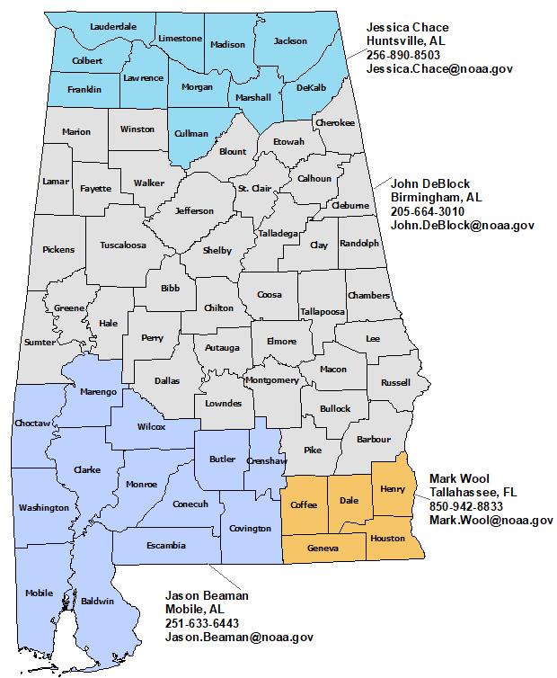 Alabama Nws Contacts