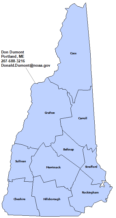 New Hampshire StormReady Contact map