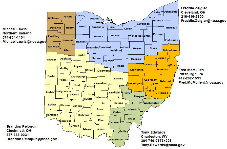 NWS Contacts in Ohio