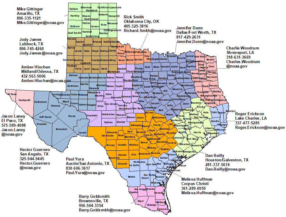 Texas Nws Contacts