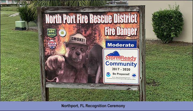 Northport, FL, StormReady Recognition Ceremony