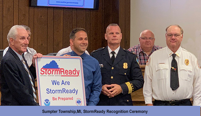 Sumpter Township. MI, StormReady Renewal Ceremony