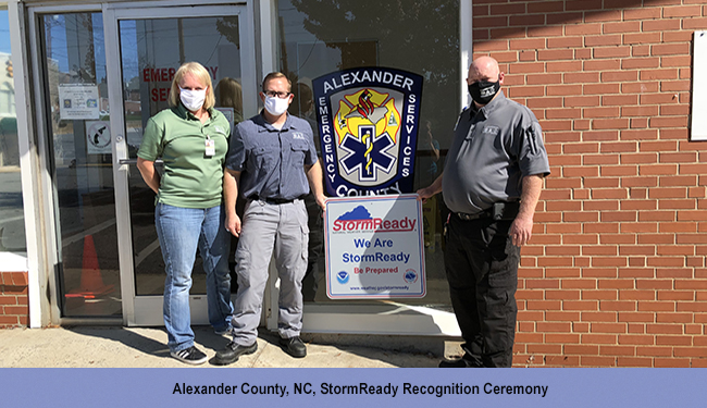 Alexander County, NC, StormReady Recognition Ceremony