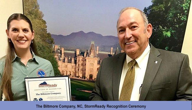 The Biltmore Company, NC, StormReady Recognition Ceremony