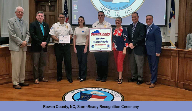 Rowan County, NC, StormReady Recognition Ceremony