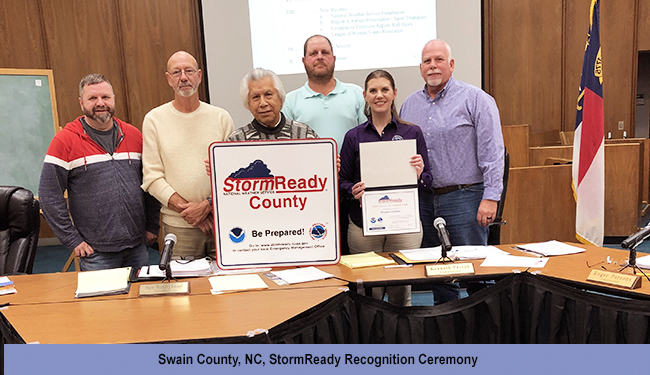 Swain County, NC, StormReady recognition ceremony