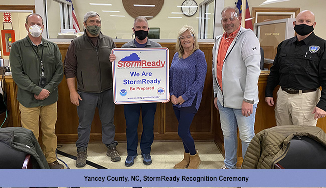 Yancey County, NC, StormReady Recognition Ceremony