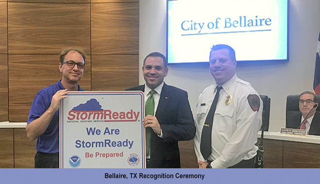 Bellaire, TX, StormReady Ceremony