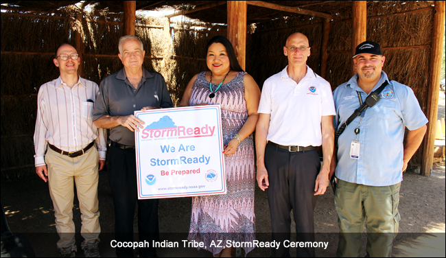 Cocopah Indian Tribe, AZ, Stormready recognition ceremony