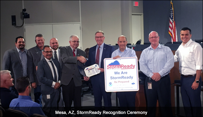 Mesa, AZ, StormReady Recognition Ceremony